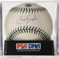Autographs:Baseballs, Cal Ripken, Jr. Single Signed Baseball, PSA NM-MT+ 8.5. Cal Ripken,Jr. has signed an official orb from his final All-Star G...