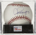 "Autographs:Baseballs, Alex Rodriguez ""#13"" Single Signed Baseball, PSA Gem Mint 10. Thestatistical maniac Alex Rodriguez tied Willie Mays for the..."