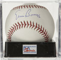 Autographs:Baseballs, Ernie Banks Single Signed Baseball, PSA Mint+ 9.5. A better exampleof a single from Mr. Cub himself Ernie Banks can scarcel...
