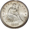 Seated Quarters, 1887 25C MS65 PCGS....