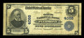 National Bank Notes:West Virginia, Piedmont, WV - $5 1902 Plain Back Fr. 600 The Davis NB Ch. # 4088....