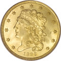 Classic Half Eagles, 1836 $5 MS65 PCGS....