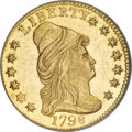 Early Quarter Eagles, 1798 $2 1/2 Close Date MS64 NGC....