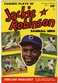 Golden Age (1938-1955):Miscellaneous, Jackie Robinson #6 (Fawcett, 1952) Condition: FN/VF....