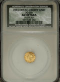 California Fractional Gold: , 1853 50C Peacock Reverse 50 Cents, BG-302, Low R.4,--Plugged--NCS.AU Details. NGC Census: (0/10). PCGS Population (1/95). ...