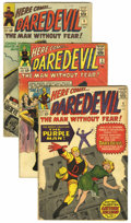 Silver Age (1956-1969):Superhero, Daredevil Group (Marvel, 1964-67) Condition: Average GD/VG.... (Total: 9 Comic Books)