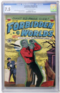 Golden Age (1938-1955):Horror, Forbidden Worlds #4 (ACG, 1952) CGC VF- 7.5 Cream to off-whitepages....