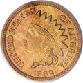 Proof Indian Cents, 1862 1C PR65 Cameo PCGS. CAC....