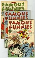 Golden Age (1938-1955):Miscellaneous, Famous Funnies File Copies Group (Eastern Color, 1942-46) Condition: Average FN.... (Total: 10 Comic Books)