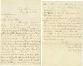 "Autographs:Military Figures, Confederate General Edward Johnson POW Autograph Letter Signed to Emily S.B. Brune, the Angel of Fort Delaware, 2 pages, 5"" ..."