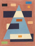 Fine Art - Painting, American:Modern  (1900 1949)  , EMIL BISTTRAM (American 1895-1976). Untitled. Pastel onpaper. 14 x 11 inches (35.6 x 27.9 cm). Signed lower right:Bi...