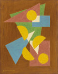 Paintings, EMIL BISTTRAM (American 1895-1976). Untitled. Pastel on paper. 14 x 11 inches (35.6 x 27.9 cm). Signed lower right: Bi...