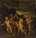 Fine Art - Painting, European:Other , FRENCH SCHOOL (Seventeenth Century). Putti Dancing. Oil oncanvas. 38 x 36 inches (96.5 x 91.4 cm). Unsigned. ...