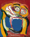 Paintings, KAREL APPEL (Dutch 1921-2006). Untitled, 1974. Oil on canvas. 19-1/2 x 15-1/2 inches (49.5 x 39.4 cm). Signed and dated ...