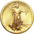 High Relief Double Eagles, 1907 $20 High Relief, Flat Rim MS66 PCGS....