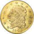 Early Half Eagles, 1820 $5 Curl 2, Large Letters MS65 PCGS....