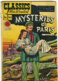 Golden Age (1938-1955):Classics Illustrated, Classics Illustrated #44 Mysteries of Paris - First edition(Gilberton, 1947) Condition: GD+....