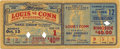 Boxing Collectibles:Memorabilia, 1942 Joe Louis v. Billy Conn Full Ticket. A full ticket from a fight held at Yankee Stadium on Monday October 12, between S...