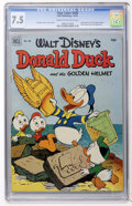 Golden Age (1938-1955):Funny Animal, Four Color #408 Donald Duck (Dell, 1952) CGC VF- 7.5 Cream tooff-white pages....