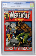 Bronze Age (1970-1979):Horror, Werewolf by Night #1 (Marvel, 1972) CGC NM- 9.2 White pages....