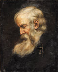 Fine Art - Painting, European:Antique  (Pre 1900), CONTINENTAL SCHOOL (19th Century). Portrait of an Old Man inProfile. Oil on canvas. 21-1/8 x 17 inches (53.6 x 43.2 cm)...