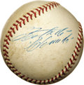 Autographs:Baseballs, Late 1960's Roberto Clemente Single Signed Baseball. He gave his Pittsburgh fans the privilege of witnessing his 3,000th car...