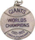 Baseball Collectibles:Others, 1923 New York Giants Silver Season Pass. The Polo Grounds celebrated a National League pennant this season, to the surprise...
