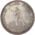 Baseball Collectibles:Others, 1861 Pioneer Base Ball Club Token. It is reported that just 150 pieces of this white metal token were ever minted, done in ...
