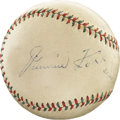 "Autographs:Baseballs, Circa 1935 Hall of Famers Multi-Signed Baseball with Foxx, Lazzeri.While we cannot date this ""Official League Ball"" with c..."