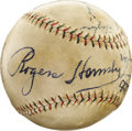 "Autographs:Baseballs, 1932 Chicago Cubs Stars Signed Baseball with Tris Speaker. Withjust eight signatures taking up residence upon this ""Officia..."