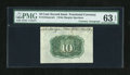 Fractional Currency:Second Issue, Fr. 1244SP 10c Second Issue Wide Margin Back with Morgan Courtesy Autograph PMG Choice Uncirculated 63 EPQ....