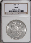 Morgan Dollars: , 1901 $1 AU58 NGC. NGC Census: (987/566). PCGS Population (664/560).Mintage: 6,962,813. Numismedia Wsl. Price for NGC/PCGS ...