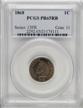Proof Indian Cents, 1868 1C PR65 Red and Brown PCGS....