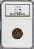 Proof Indian Cents, 1872 1C PR65 Red and Brown NGC....