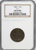 Half Cents, 1803 1/2 C AU55 NGC. C-1. NGC Census: (10/22). PCGS Population(7/26). Mintage: 92,000. Numismedia Wsl. Price for NGC/PCGS ...