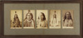 American Indian Art:Photographs, FIVE PORTRAITS OF HUNKPAPA LAKOTA MEN, INCLUDING RAIN IN THE FACE(ITE OMAGAJU), OLD WOLF, GALL (PIZI...