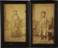 American Indian Art:Photographs, PORTRAITS OF CROW FOOT (KANGI SIHA) AND STANDING HOLY(WAKAN NAJIN), CHILDREN OF SITTING BILL. c... (Total: 2Items)