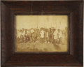 "American Indian Art:Photographs, ""WAR DANCE"" AT STANDING ROCK AGENCY, D.T.. c. mid-1880s. . ..."