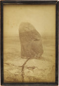 "American Indian Art:Photographs, THE LEGENDARY ""STANDING ROCK"" (INYAN BOSLAL), FROM WHICH THESTANDING ROCK RESERVATION TAKES ITS NAME. c. 1883..."