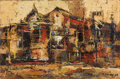 Texas:Early Texas Art - Modernists, CHESTER TONEY (American, 1935-1965). Teatro, 1958. Oil oncanvas. 16 x 24 inches (40.6 x 61.0 cm). Signed lower right: ...