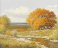 Paintings, PALMER CHRISMAN (American, 20th Century). Autumn Along the River. Oil on canvas. 16-1/8 x 20 inches (40.9 x 50.8 cm). Si...