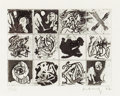 Prints, PIERRE ALECHINSKY (Belgian, b. 1927). No. 289, 1967 . Etching. 6-7/8 x 9-1/4 inches (17.4 x 23.5 cm). Ed. 21/25. Signed ...