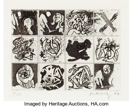 PIERRE ALECHINSKY (Belgian, b. 1927)No. 289, 1967 Etching6-7/8 x 9-1/4 inches (17.4 x 23.5 cm)Ed. 21/25Signed ...