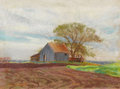 Fine Art - Painting, American:Contemporary   (1950 to present)  , REVEAU BASSETT (American, 1897-1981). Rowlett Road,November, 7, 1970. Pastel on paper. 9 x 12 inches (22.9 x 30.5 cm)....