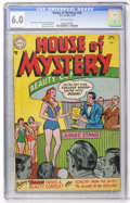 Golden Age (1938-1955):Horror, House of Mystery #34 (DC, 1955) CGC FN 6.0 Off-white pages....