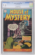Golden Age (1938-1955):Horror, House of Mystery #35 (DC, 1955) CGC VF- 7.5 Cream to off-whitepages....
