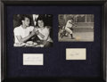 Autographs:Index Cards, 1980's Roger Maris & Sal Durante Signed Index Cards. Uniquedisplay piece features the hero of the 1961 home run chase and ...