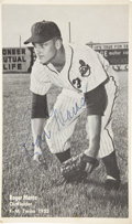 Autographs:Photos, 1953 Roger Maras (Maris) Signed Photograph. Early image finds theman who would be King in the first season of his professi...