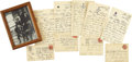 Boxing Collectibles:Autographs, 1910 John L. Sullivan Handwritten Letters Lot of 5. Thrilling archive derives from the nephew of the last bareknuckle Heavy...