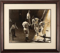Autographs:Photos, 1990's Ted Williams Signed UDA Oversized Photograph. Great rivalsare made temporary teammates and co-celebrants at the 194...